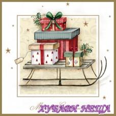 Салфетка за декупаж- K357 Весела Коледна Шейна
