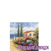 Салфетка- 102A Цветя Kрай Mорето