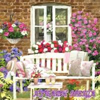 Салфетка- 0375 Garden Bench