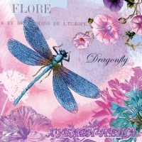 Салфетка- 0398 Blue Dragonfly