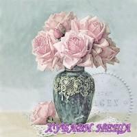 Салфетка- 0388 Roses in Vase