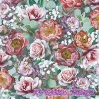 Салфетка- 506B Vintage Flowers green