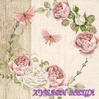 Салфетка- 1109 Roundel of roses