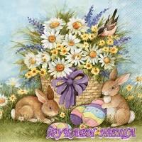 Салфетка- V015 Bunnies