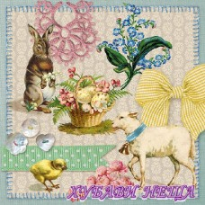 Салфетка- V020 Easter Collage