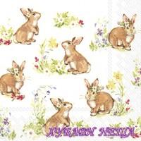 Салфетка- V030 Сладки прекрасни зайчета