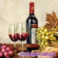 Салфетка- 0173 Wine & Grapes