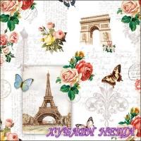 Салфетка- 082 Paris Monuments