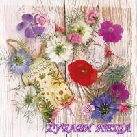 Салфетка за декупаж- 303 Летни Цветя