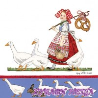Салфетка- 318 Girl With Geese