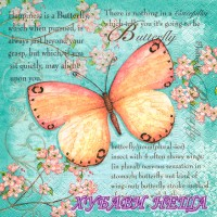 Салфетка- 677 Butterfly poetry