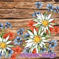 Салфетка- Алпийски цветя 760
