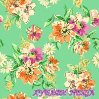 Салфетка- 1022 Flower Meadow Pattern turquoise