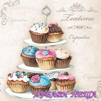 Салфетка- 763 Cupcakes on Etagere