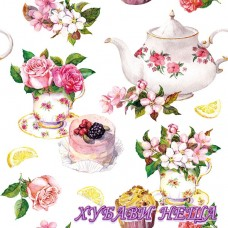 Салфетка- 768A Flower in Teacup